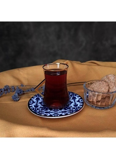 Koleksiyon Dervish Kulplu Mexicano 6'lı Çay Seti Renkli
